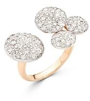 Pomellato 18K Rose Gold Sabbia Diamond Pave Disc Cuff Ring