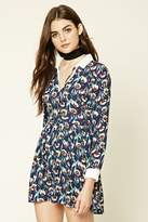 Forever 21 Collared Floral Print Dress