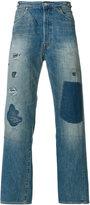 Levi's patchwork jeans