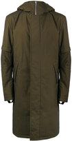 Helmut Lang Khaki Green flat hood coat