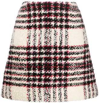 Tory Burch checked A-line skirt