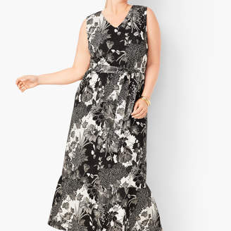 Talbots Floral Jersey Maxi Dress