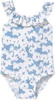 Joe Fresh Baby Girls' Ruffle Swimsuit, Blue (Size 3-6)