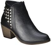 Mossimo Women's Kaden Studded Strap Ankle Boot - Black