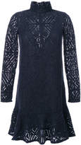 See by Chloe turtleneck crochet dress