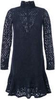 See by Chloe turtleneck crochet dress