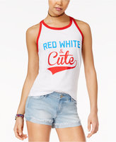 Bioworld Juniors' Red White & Cute Graphic Tank Top