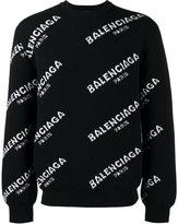 Balenciaga all-over logo sweater - men - Polyamide/Spandex/Elastane/Wool - S