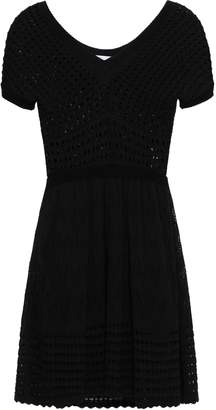 RED Valentino Crochet-knit Cotton Mini Dress