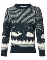 Thom Browne whale intarsia jumper