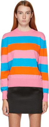 MSGM Multicolor Striped Crewneck