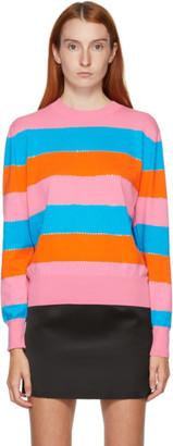 MSGM Multicolor Striped Crewneck