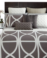 Hotel Collection CLOSEOUT! Transom Charcoal King Duvet Cover
