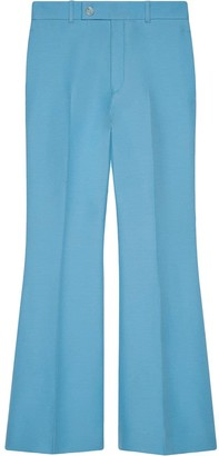 Gucci Flared Cropped Trousers