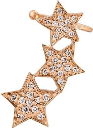 Alinka STASIA Triple Star diamond left ear cuff