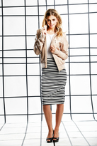 Shabby Apple Stripes Pencil Skirt B&W