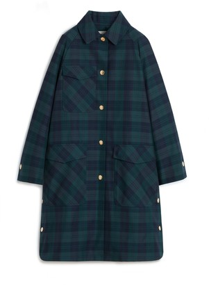 Mulberry Freda Coat Green Tartan Canvas