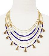 Jessica Simpson Home Grown Tasseled Beaded Multi-Row Necklace