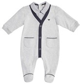 Armani Junior Infant Boy's Shirt & Cardigan Footie