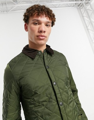 Barbour Heritage Liddesdale quilted jacket in olive-Green