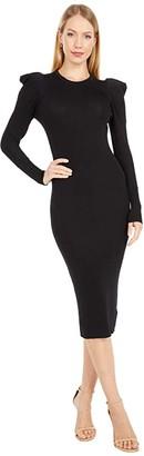 BB Dakota Puff Idea Dress (Black) Women's Clothing