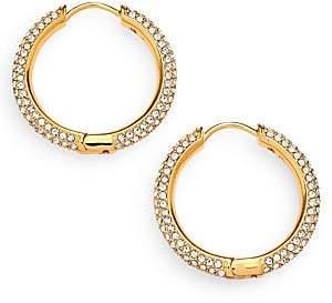 """Adriana Orsini Women's Pavé Hoop Earrings/0.8"""""""
