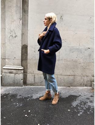 Sincere Paris - Wool Coat 3/4 length sleeves Navy - Size M