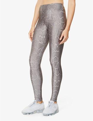 Koral Drive snake-print high-rise stretch-jersey leggings