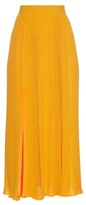 Sonia Rykiel Pleated ribbed-knit skirt