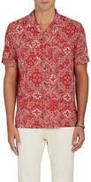 RRL Men's Bandana-Print Plain-Weave Shirt