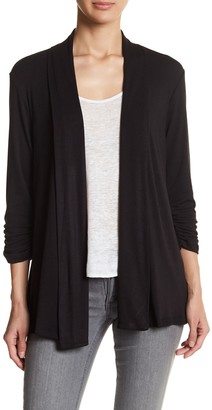 Bobeau Shawl Collar 3/4 Length Sleeve Cardigan