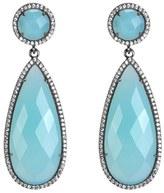 Susan Hanover Women's Semiprecious Stone Double Drop Earrings