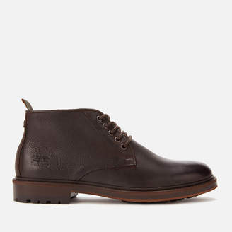 Barbour Men's Derwent Leather Chukka Boots - Dark Brown