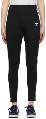 adidas Black and White Adicolor 3-Stripes Leggings