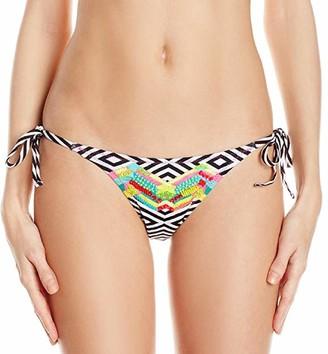 Agua Bendita Women's Symetrical Delight Bendito Equilatero Hand Embroidered Tie Side Bikini Bottom