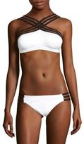Kenneth Cole High-Neck Swim Top