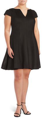 Julia Jordan Cap Sleeves Fit & Flare Dress