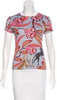 Hermes Printed Short Sleeve Top