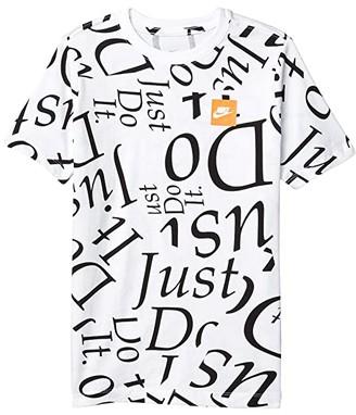 Nike Kids Sportswear All Over Print JDIY Tee (Big Kids) (White) Boy's T Shirt