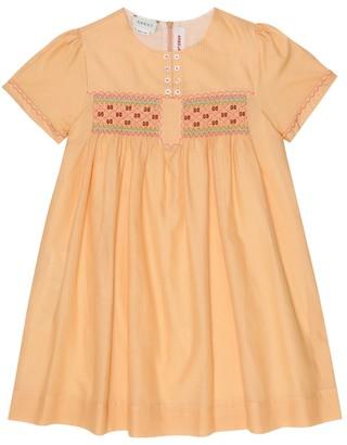 Gucci Kids Babydoll cotton-voile dress
