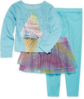 Asstd National Brand Ice Cream Tutu 3-pc. Pajama Set - Preschool Girls 4-6X