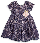 Laura Ashley Girls 2-6x Lace Pleated Dress