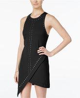 XOXO Juniors' Studded Asymmetrical-Hem Sheath Dress