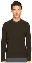 The Kooples Mercerized Cotton Leather Sweater Men's Sweater