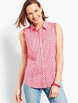 Talbots Perfect Scallop Shirt - Sandbar Check
