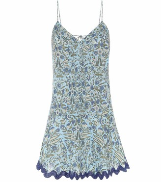 Juliet Dunn Floral cotton minidress