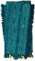 Loloi AIDAT0010TE00TH01 AIDA Collection Teal Decorative Throw, 4-Feet-2-Inchx5-Feet