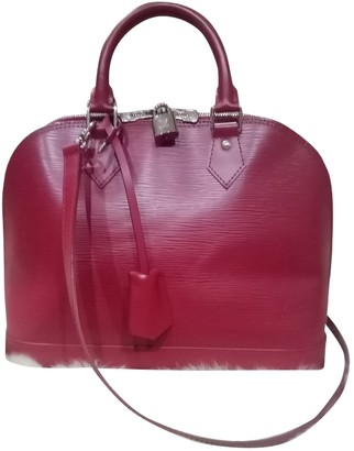 Louis Vuitton Alma BB Pink Leather Handbags