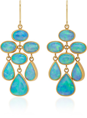 Mallary Marks Trapeze 22K Gold Opal Earrings