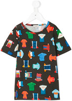 Paul Smith bicycle racing top print T-shirt - kids - Cotton - 2 yrs
